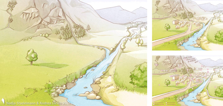 Landschaft Naturgefahren Alpin Nadja Stadelmann